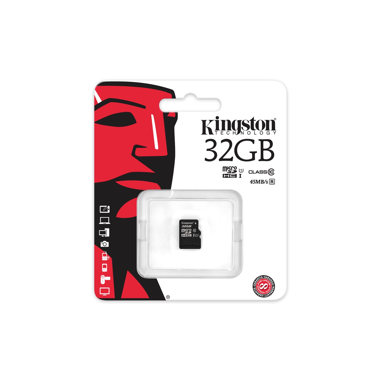 Kingston Paměťová karta flash - 32GB microSDHC UHS-I